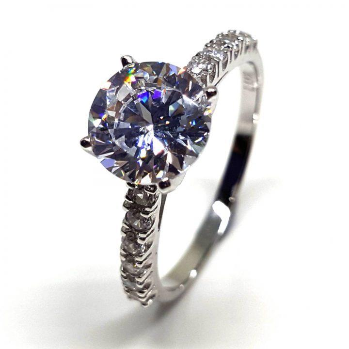 LUXR149-1 Luxuria white diamond simulant engagement ring