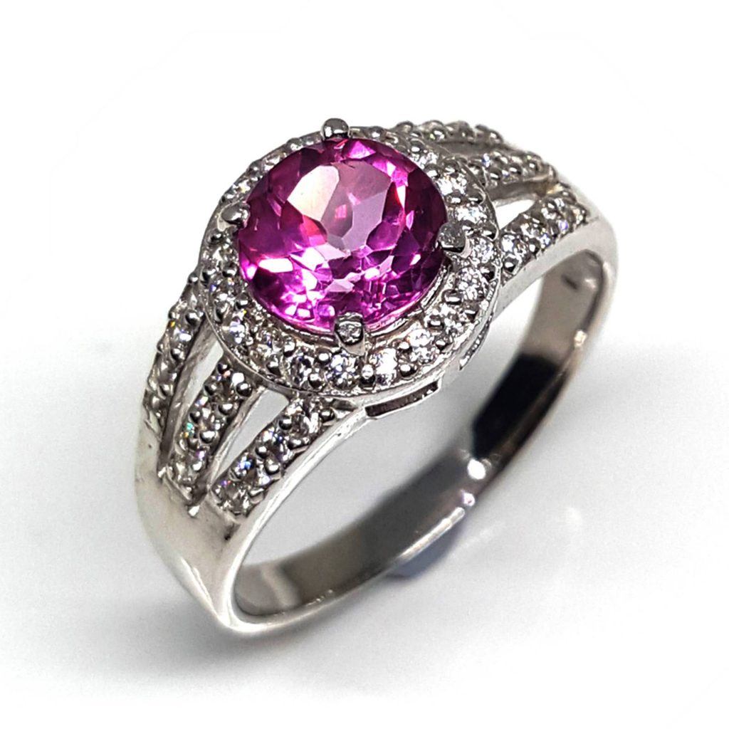 LUXR113-1 Luxuria pink topaz engagement rings