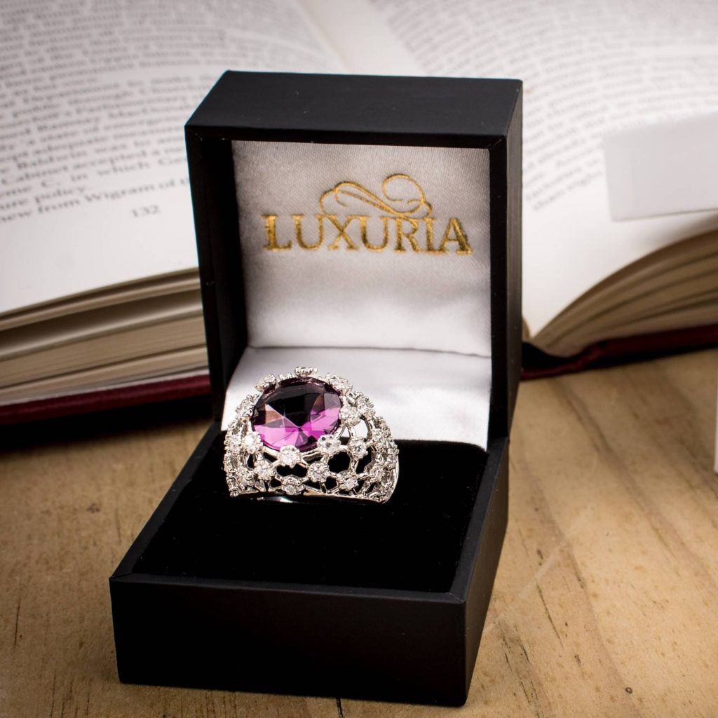 LUXR116-7 Make a statement with a cocktail ring from Luxuria Jewelry brand