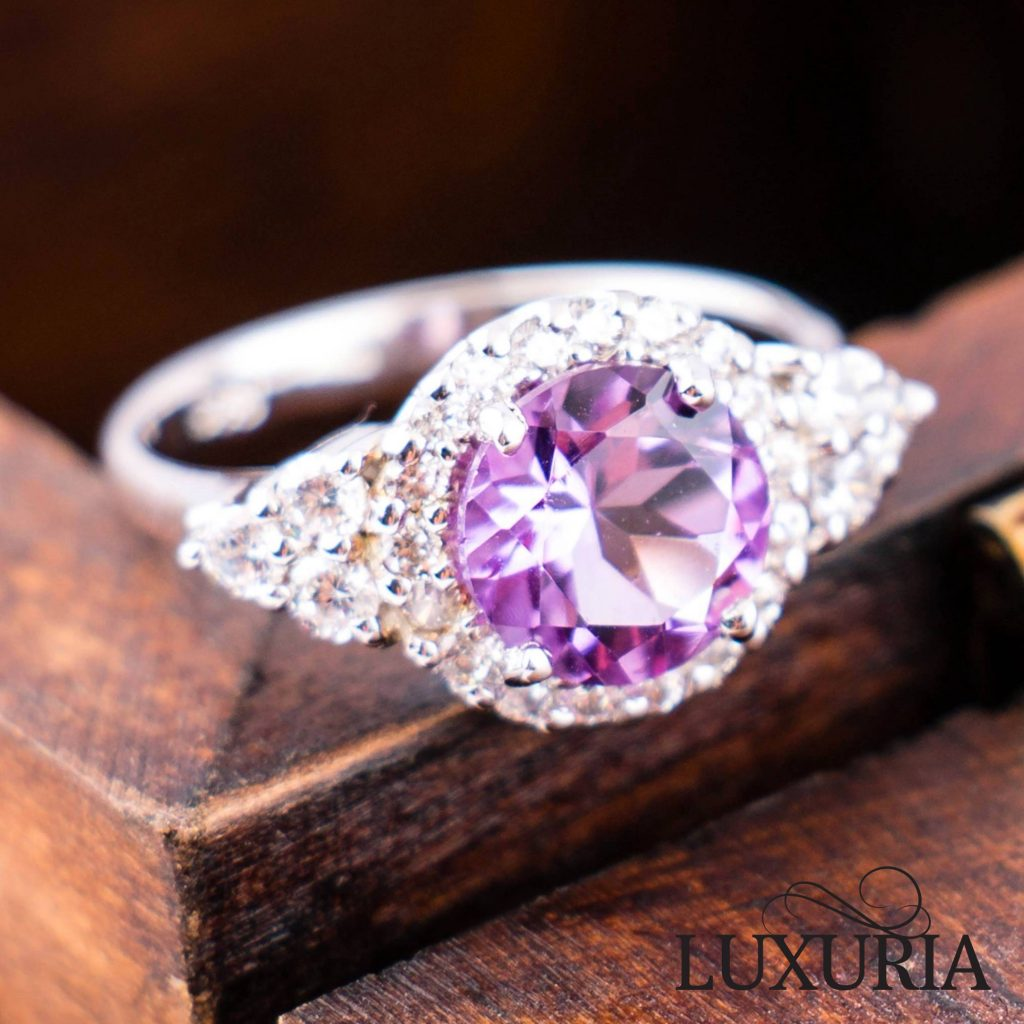 LUXR118-3 Luxuria cubic zirconia engagement rings