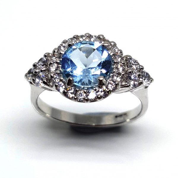 LUXR124-1 Luxuria blue topaz engagement rings - LUX