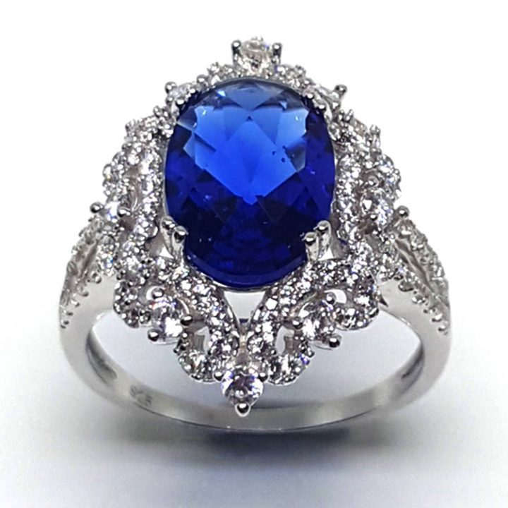 LUXR145-1 Luxuria blue sapphire cocktail rings USA