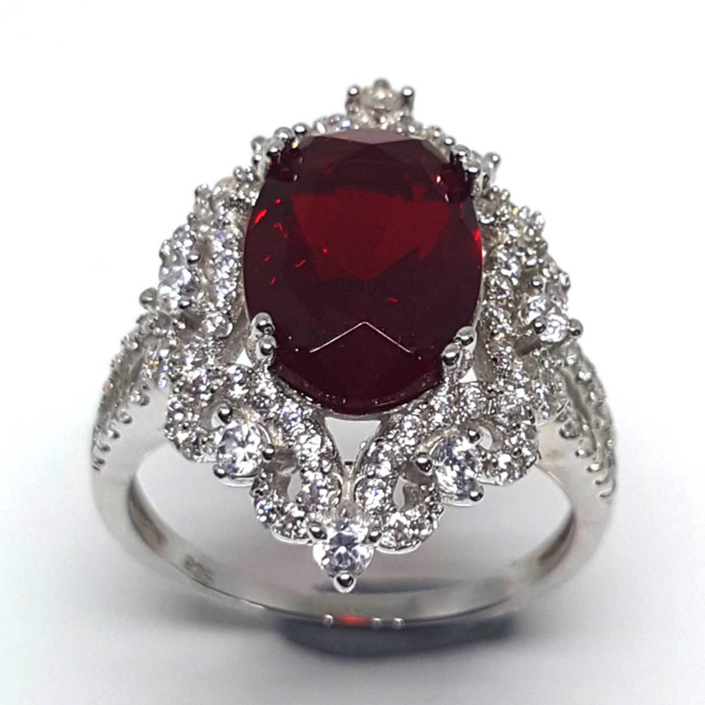 LUXR147-1 Luxuria ruby red cocktail rings USA