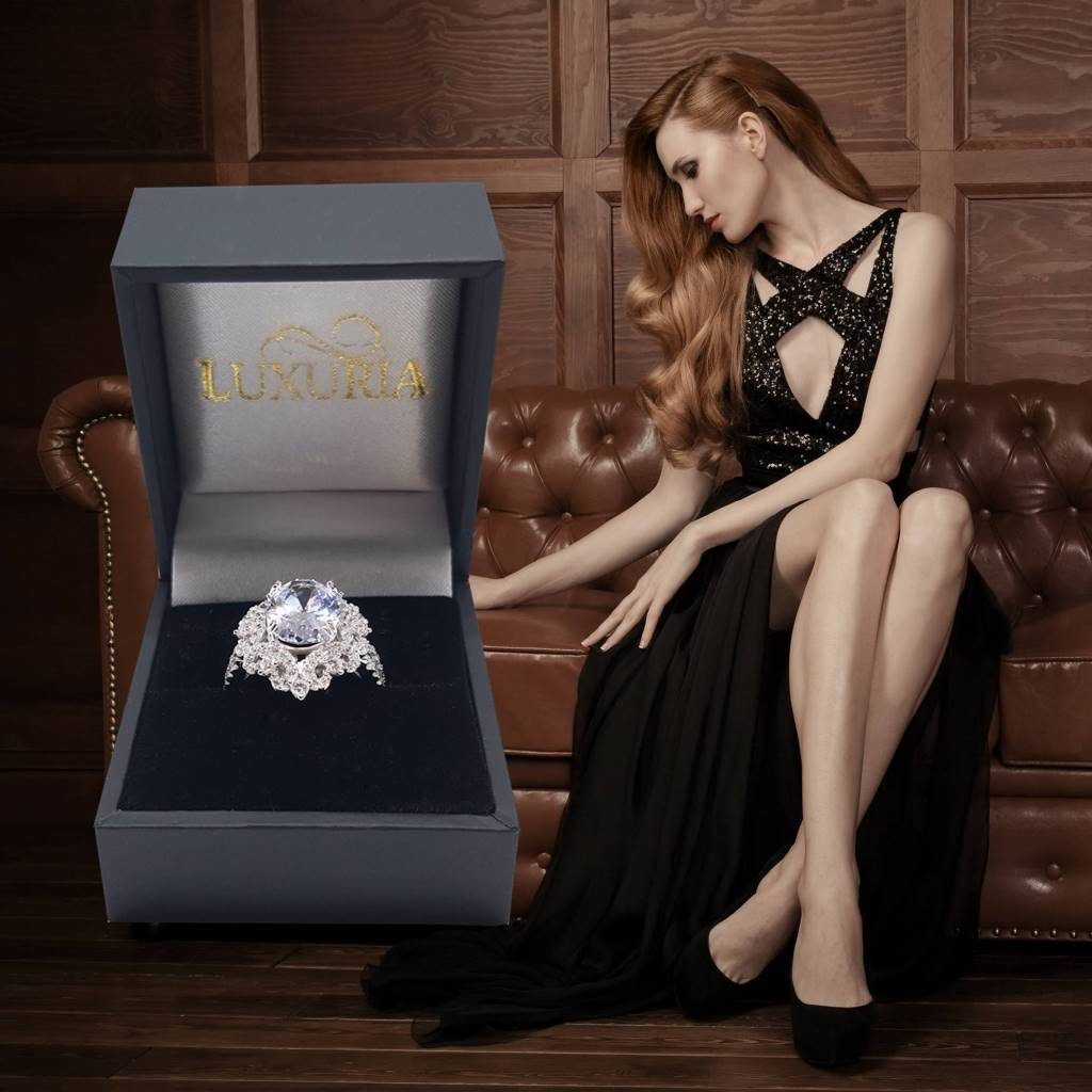 LUXR148-8 Luxuria cocktail ring Valentines day gifts for her USA