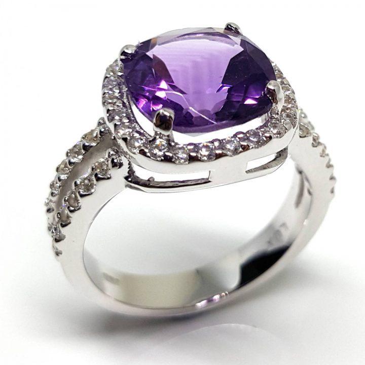 LUXR164-2 Luxuria amethyst birthstone rings February birthstone rings