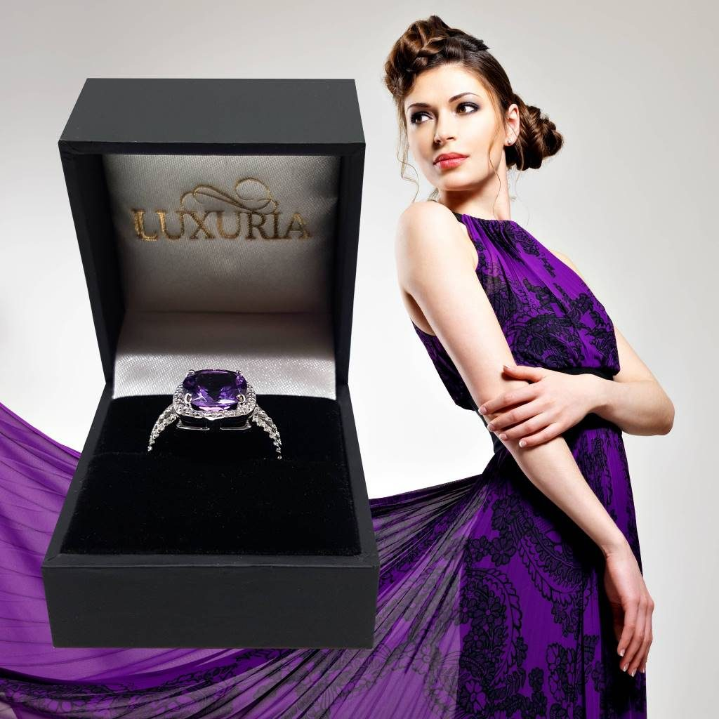LUXR164-8 Luxuria lookbook - Amethyst rings Valentines day gift for her USA