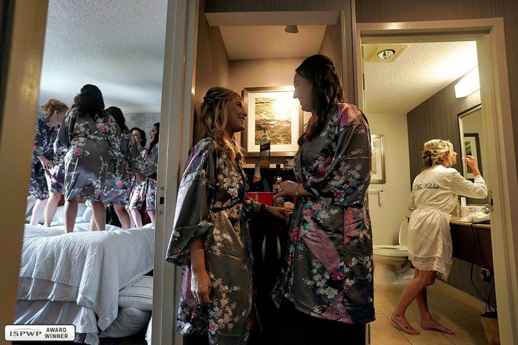 The getting-ready triptych. Photo by Emin Kuliyev, Emin Wedding Photography, New York City