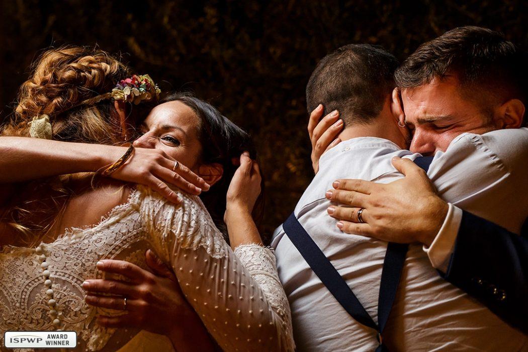 Wedding day emotion. Photo by Santi, Nou Enfoc, Barcelona, Spain