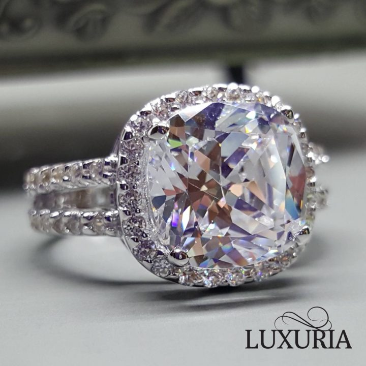 LUXR156 Fake Diamond engagement rings by Luxuria Jewelry brand