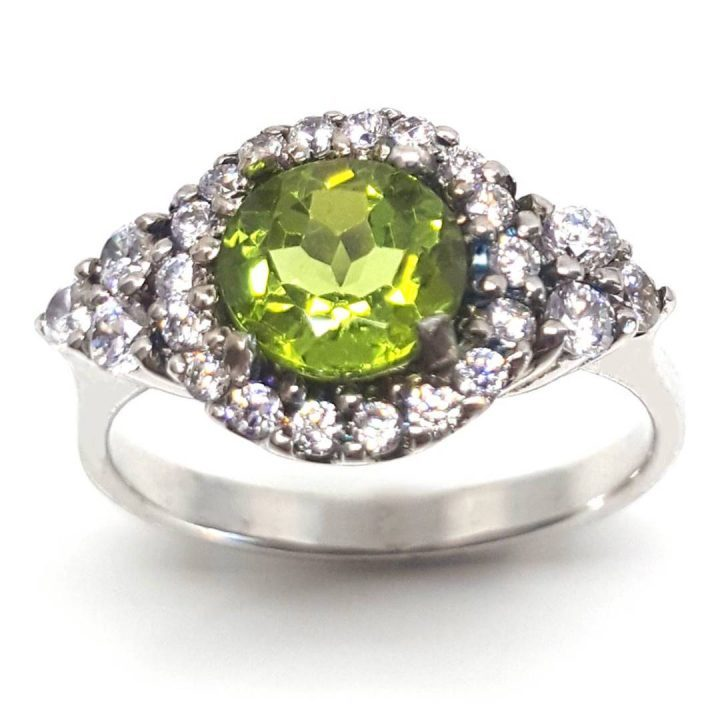 LUXR125 Luxuria peridot gemstone engagement ring