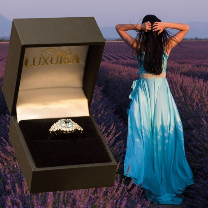 Luxuria high quality faux diamond engagement rings - LUXR124