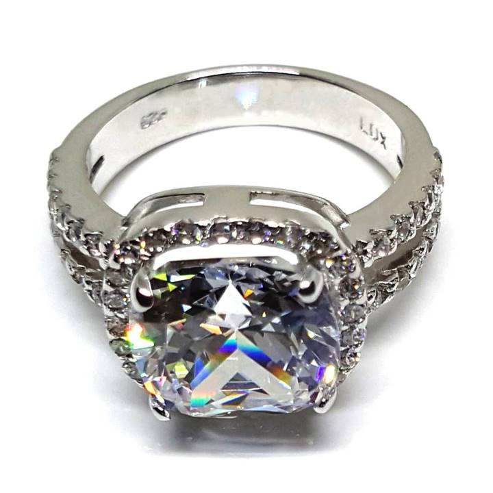 4 Ct Cushion Cut Diamond Engagement Ring Will Rock Her