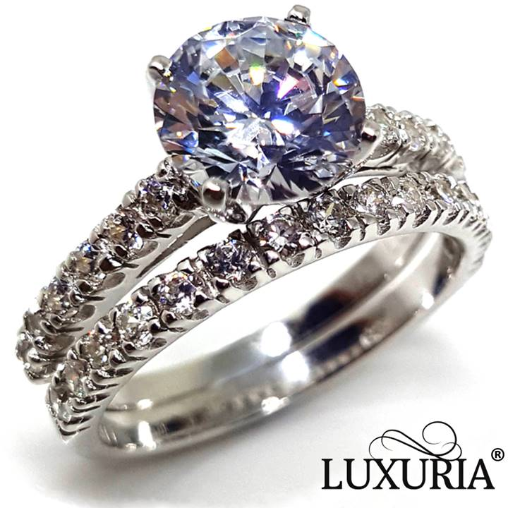 Luxuria Fake Engagement Ring for Proposal