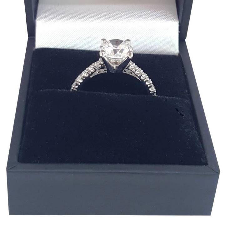 Luxuria PROMESSO realistic faux engagement rings with deluxe ring box