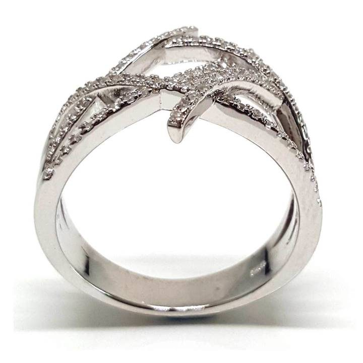 Luxuria An open weave of round cut white diamond simulants. Faux engagement rings