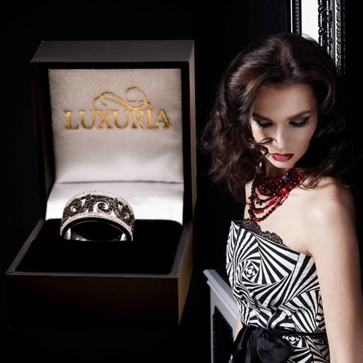 Luxuria rings to match or for a black and white dress or gown