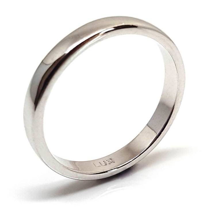 Luxuria jewelry brand, LUXR178 LUNA wedding band 2.5mm wide sterling silver polished