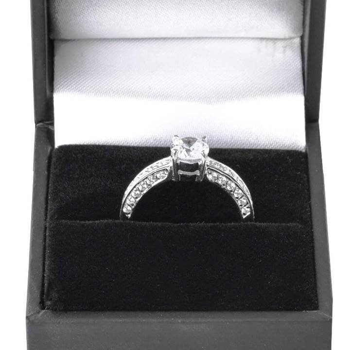 Luxuria sterling silver engagement rings perfect for petite or slender hands