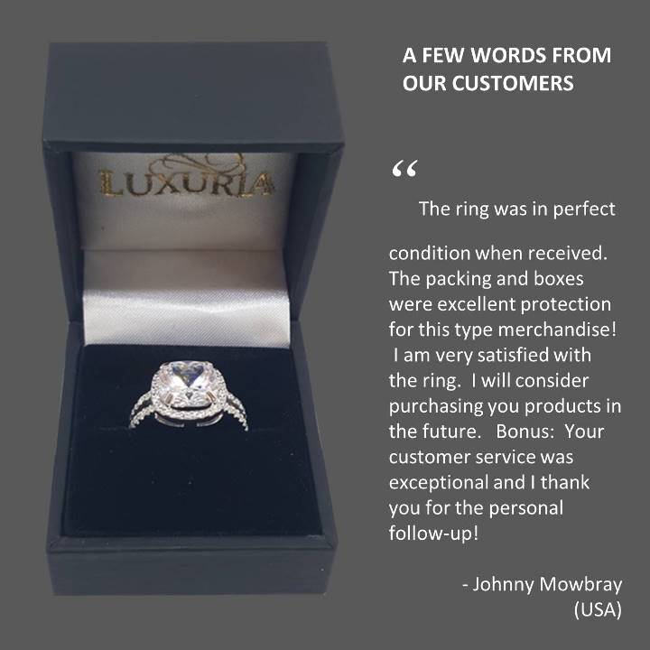 Fake Diamond Rings Luxuria customer feedback USA