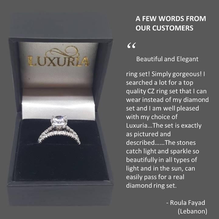 Fake diamond rings Luxuria customer feedback Lebanon