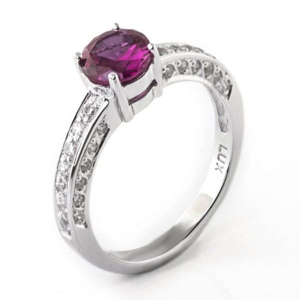 Luxuria Jewellery brand, LUXR172 RUBEUS red ruby & simulated diamond rings