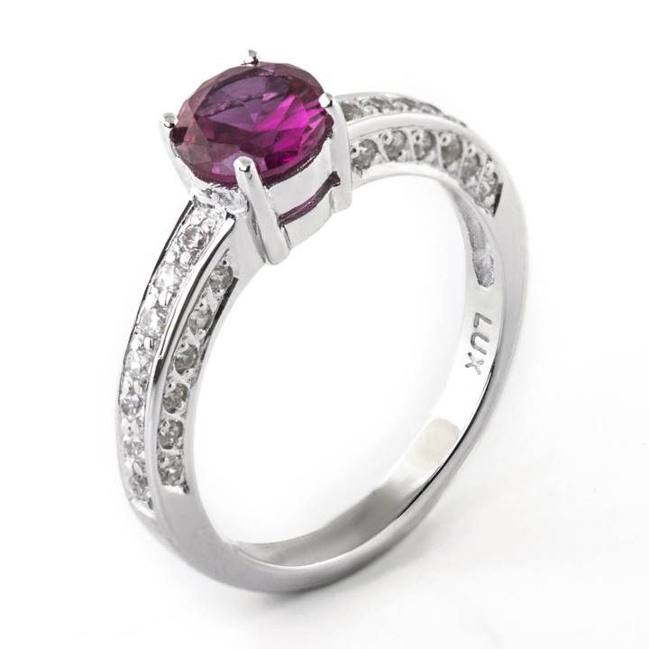 Luxuria Jewellery brand, LUXR172 RUBEUS red ruby & simulated diamond rings