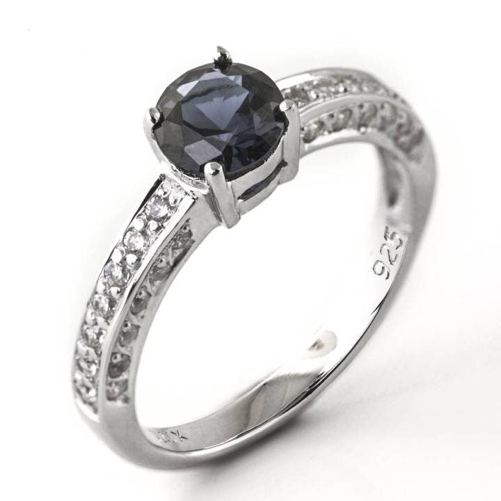 Luxuria jewelry brand LUXR173 SAPPHYRUS blue sapphire & diamond simulant ring