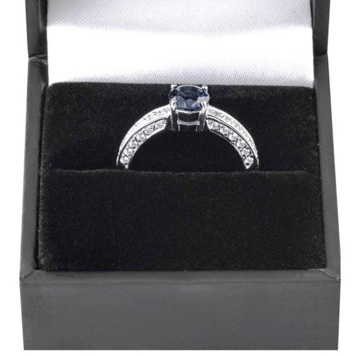 Luxuria sterling silver engagement rings perfect for small, petite or slender fingers, LUX hallmark