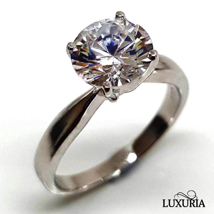 Simulated Diamond Ring, Solitaire engagement ring from Luxuria