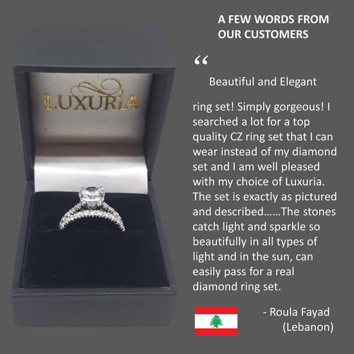 Fake diamond rings - Luxuria customer references