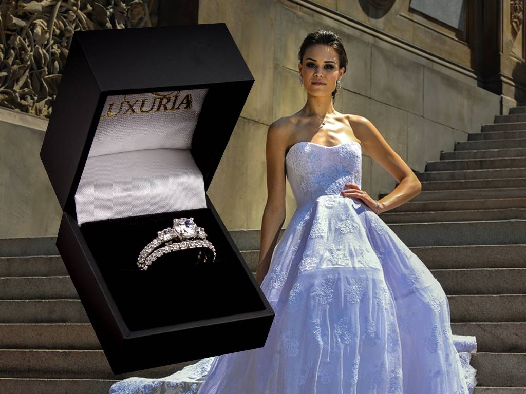 Fake diamond rings best quality look real - Luxuria Brand