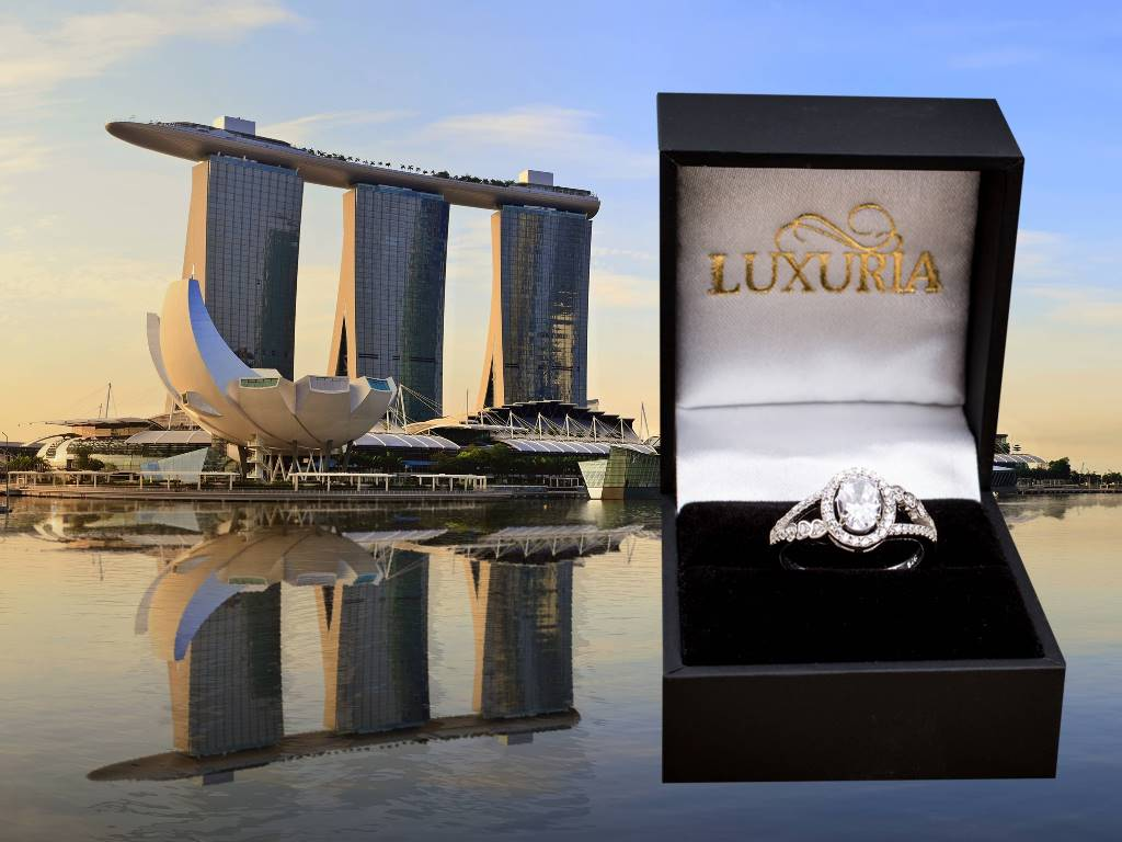 Diamond simulant rings in Singapore - Luxuria jewellery brand