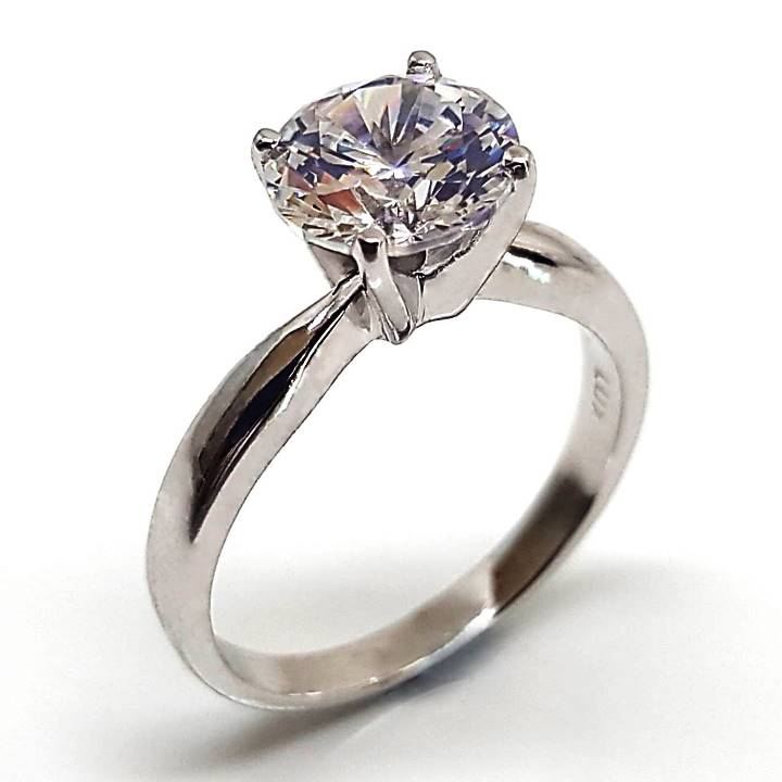 Fake solitaire diamond ring from Luxuria Diamonds brand