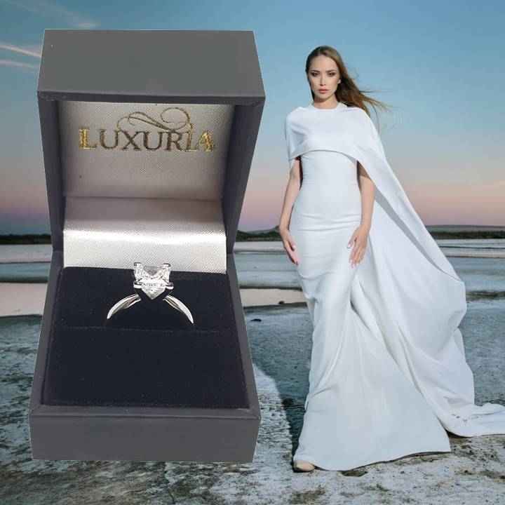 Fake diamond rings for women with gift box USA – Luxuria brand
