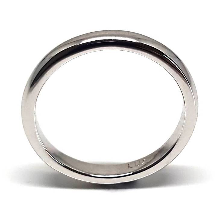 Plain silver wedding band for women 3mm Luxuria