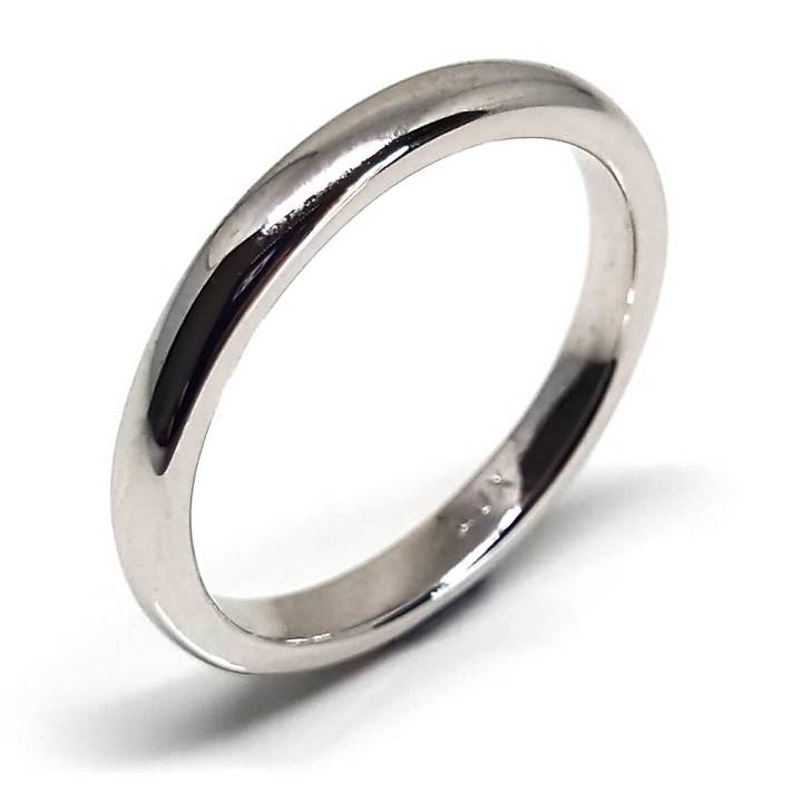 Womens silver wedding band 3mm wide Luxuria