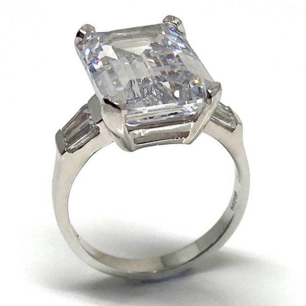 Large fake diamond rings the Vienna from LUXURIA DIAMONDS