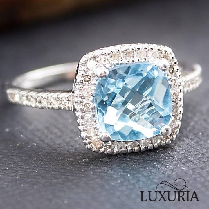 Blue topaz engagement rings buying guide - LUXURIA Diamonds