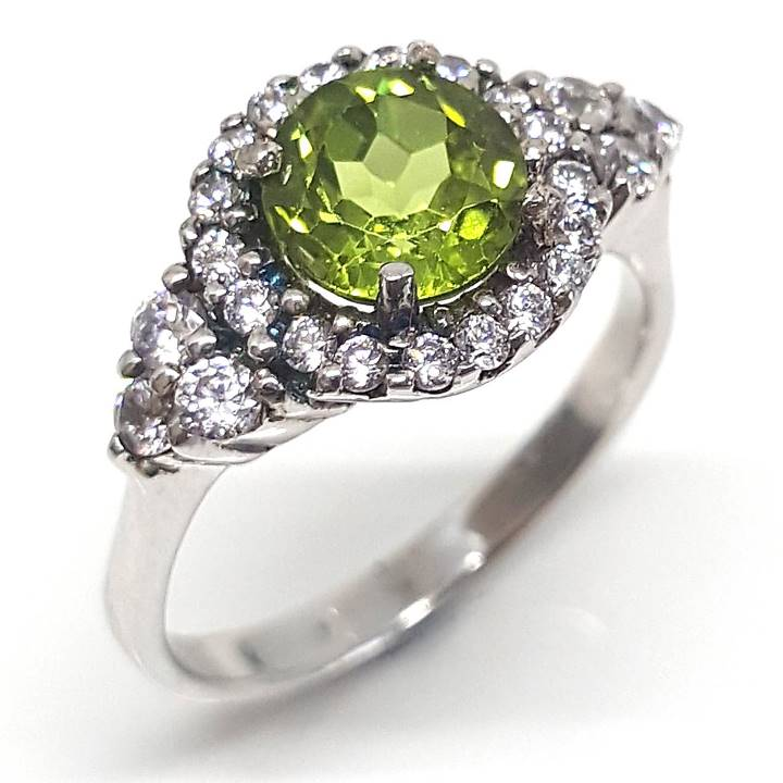 Sterling silver gemstone rings - Peridot gem