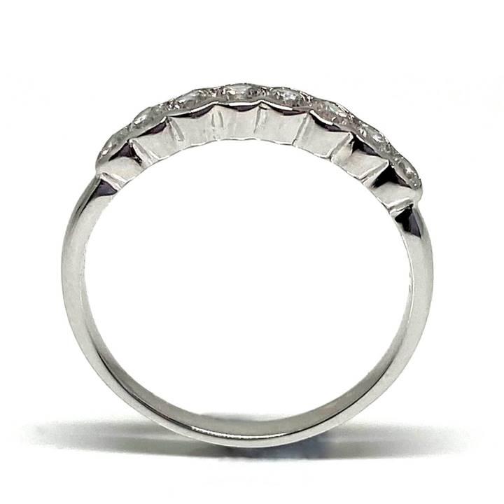 Half bezel eternity band in silver
