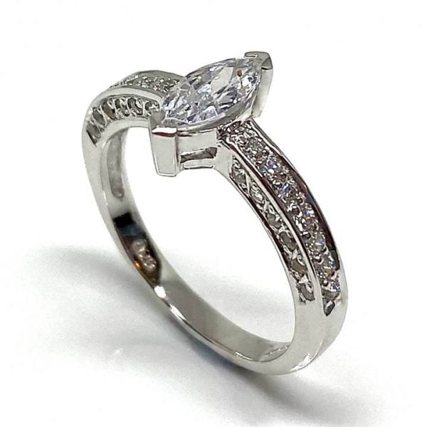 Marquise cubic zirconia ring