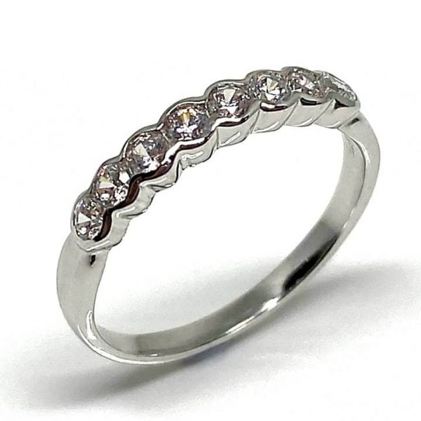 Sterling silver half eternity ring