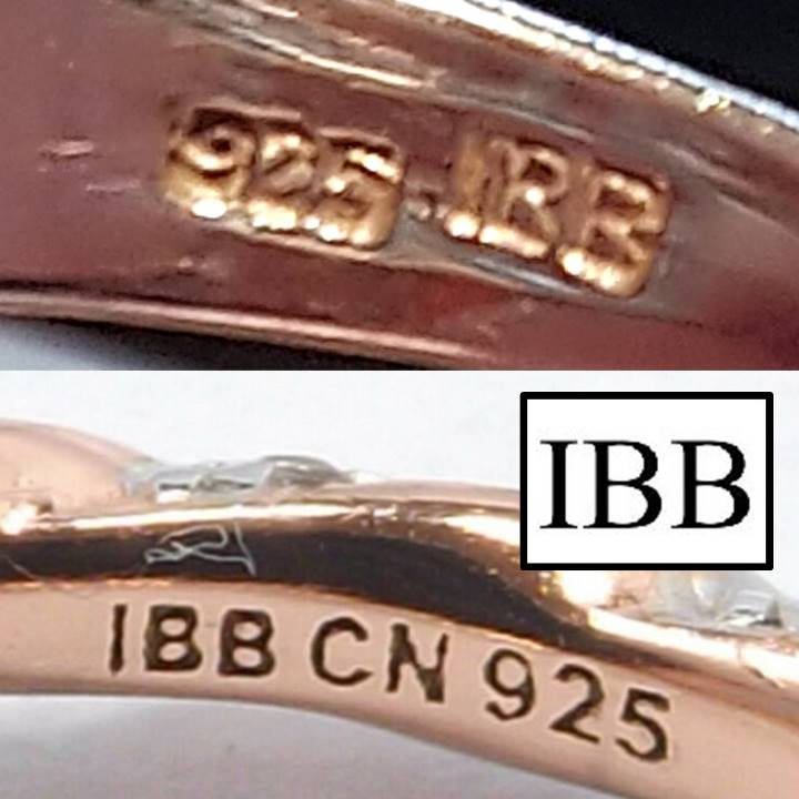 What does 925 IBB mark mean on silver jewelry