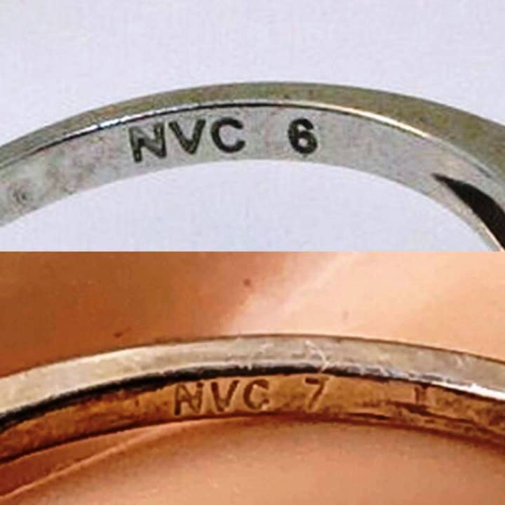 925 NVC 7 stamped on jewelry meaning NVC ring