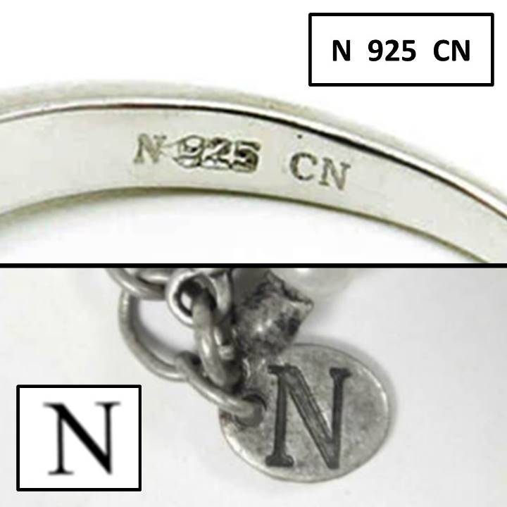 N 925 CN stamp meaning jewelry