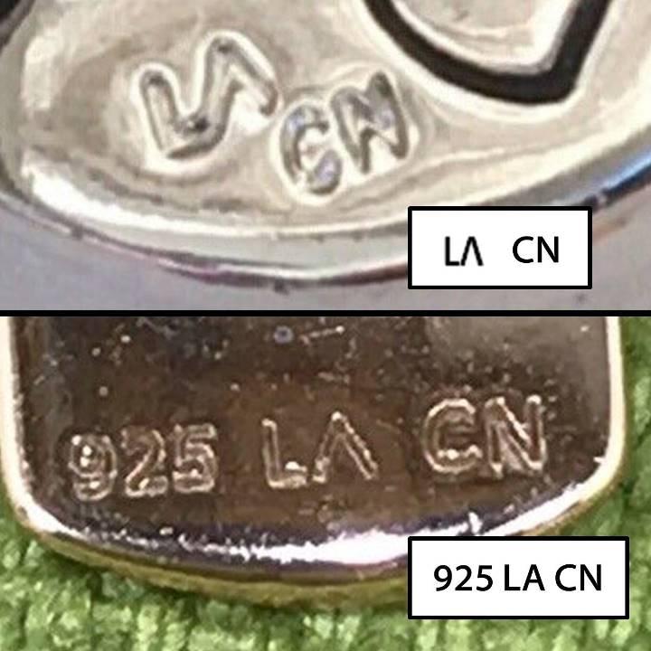925 LA CN jewelry marked LA CN meaning