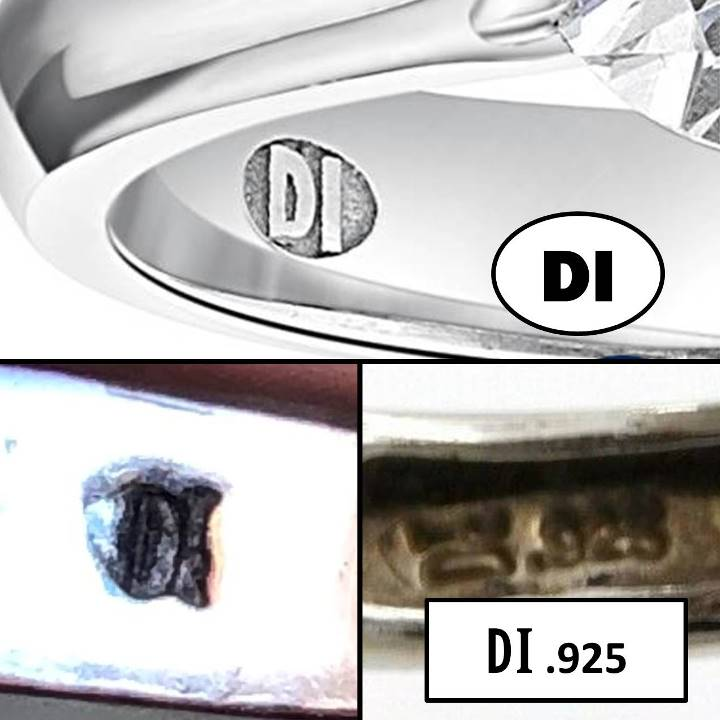 DI 925 signed jewelry meaning DI .925 ring stamp