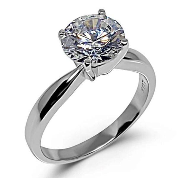 Fake solitaire diamond ring LUXURIA