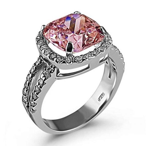 pink diamond simulant ring LUXURIA