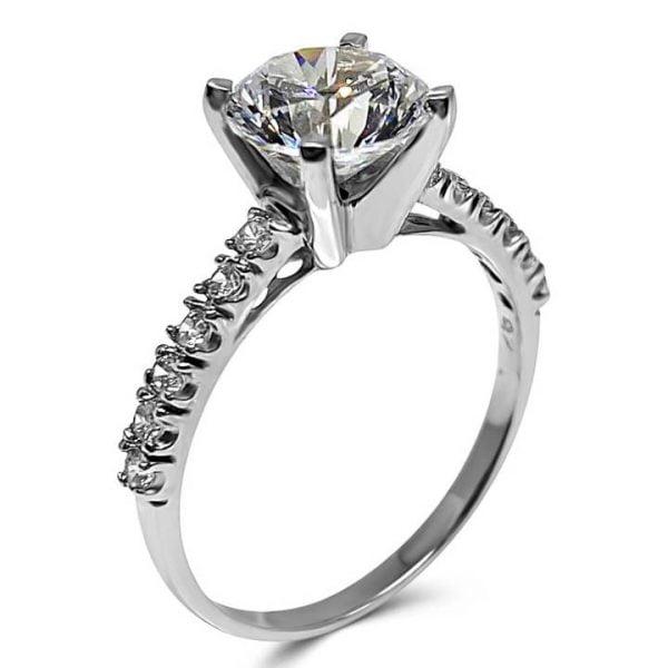 2 carat cubic zirconia engagement rings LUXURIA